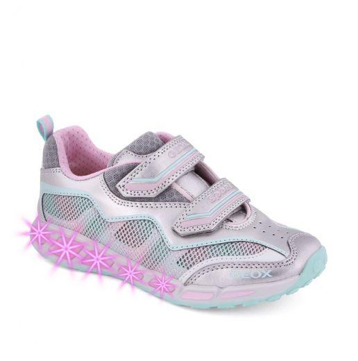 Pantofi sport fete Shuttle GB Silver Pink