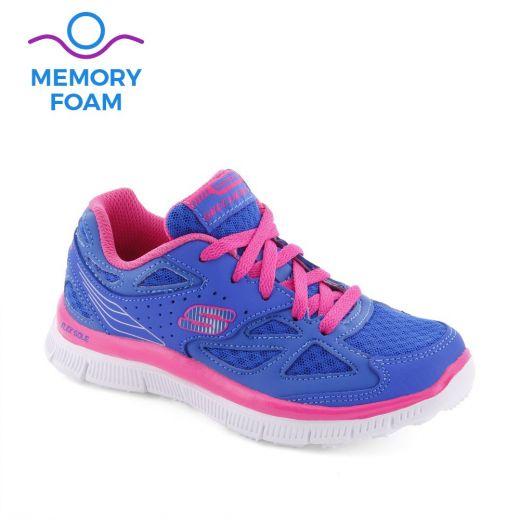Pantofi sport fete Skech Align Blue