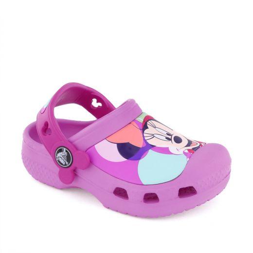 Sandale plaja fete Minnie Colorblock Pink
