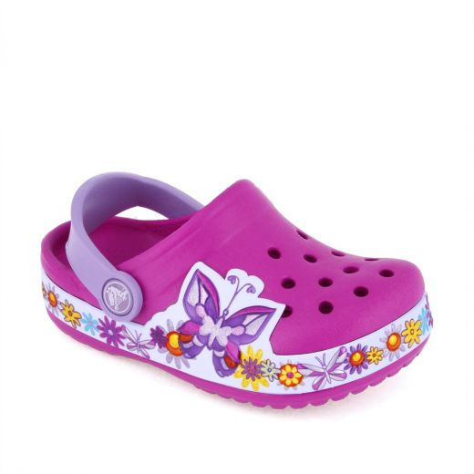 Sandale plaja fete Butterfly Clog Candy Pink
