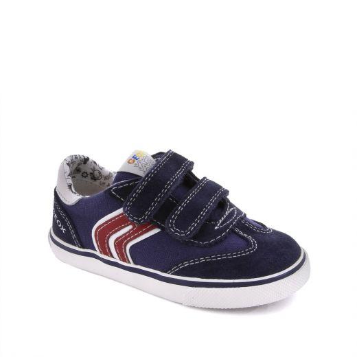 Pantofi sport baieti Kiwi BC Navy White Suede