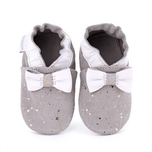 Pantofi bebelusi Tender Flower Light Grey