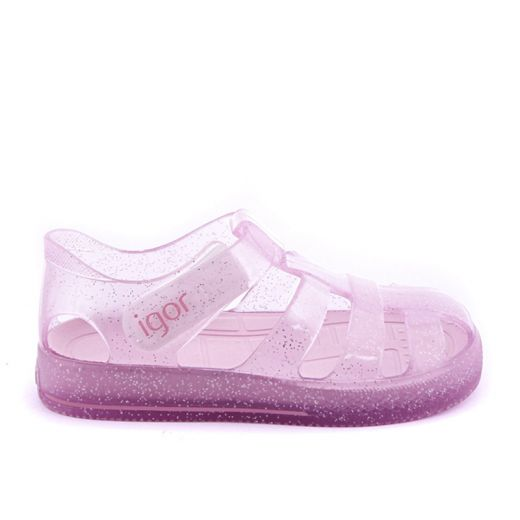 Sandale plaja fete Star Glitter Rosa