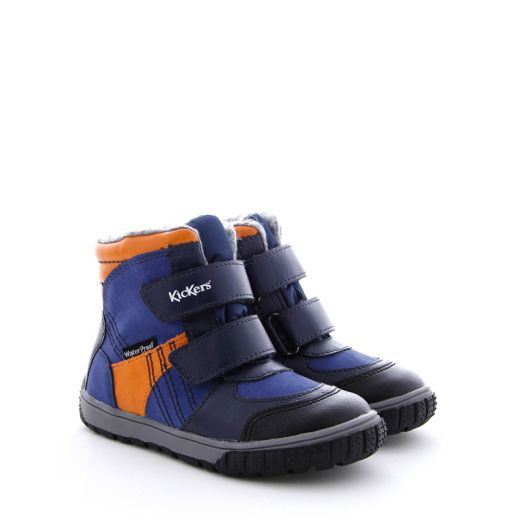 Cizme Imblanite Baieti 585572 Sitrouille Blue Orange