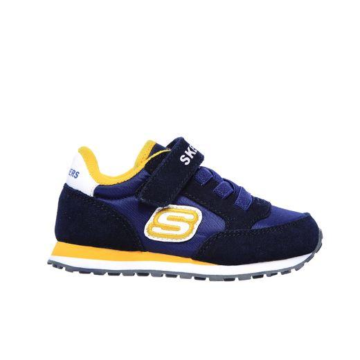 Pantofi Sport Baieti Retro Sneaks Gorvox Navy Gold
