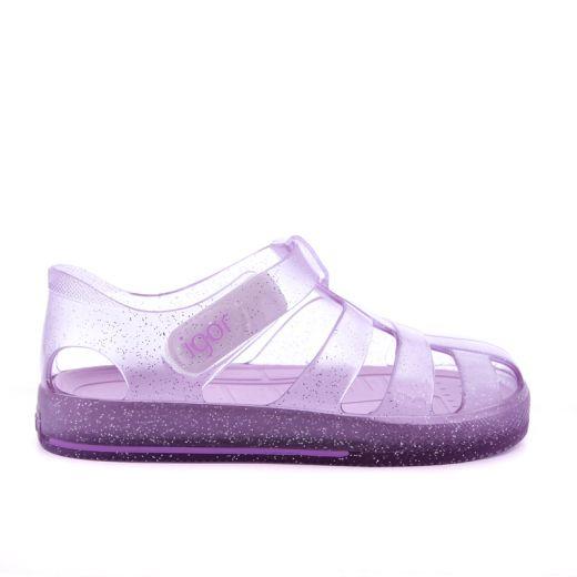 Sandale plaja Fete Star Glitter Malva