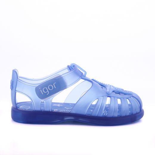 Sandale plaja Baieti Tobby Velcro Estrella Azul