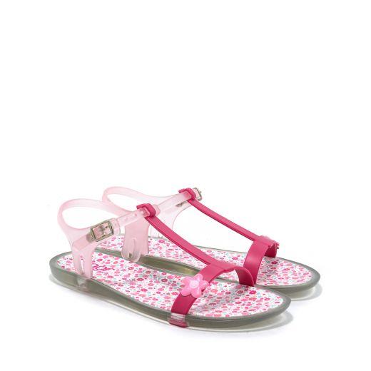 Sandale plaja fete S10117 Tricia Flores Fuchsia