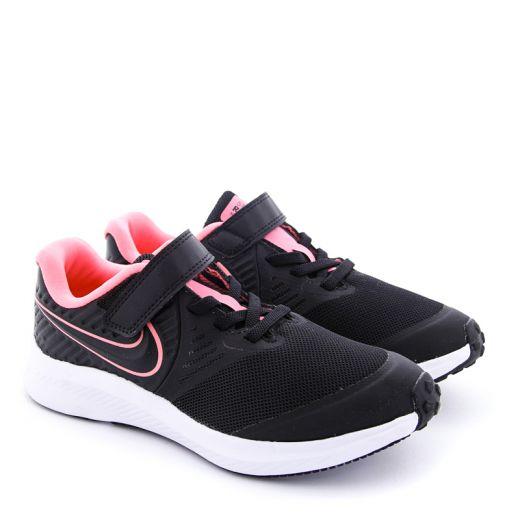 Pantofi Sport Fete AT1801 Star Runner 2 Black White