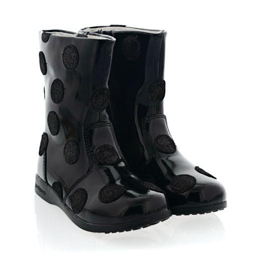 Cizme Fete Giselle Boot Black Patent Flex