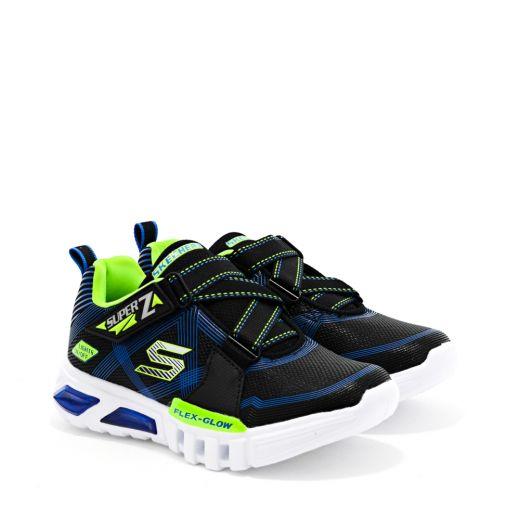 Pantofi Sport Baieti Flex Glow Parrox Black Lime