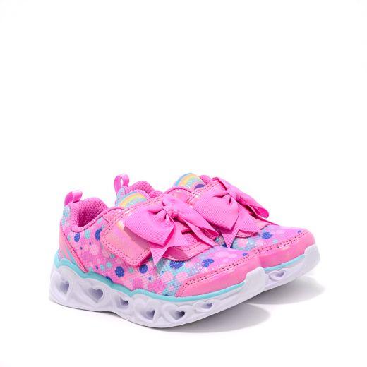 Pantofi Sport Fete Heart Lights Sparkle Spark Hot Pink Turquoise