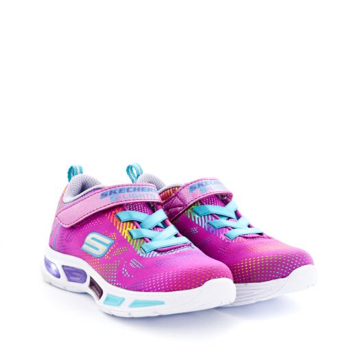 Pantofi Sport fete Litebeams Gleam N Dream Neon Pink Multi