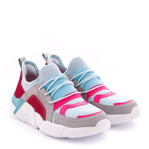 Pantofi Sport Fete Block Homeroom Gray Pink Aqua