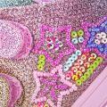 Tenisi fete Rainbow Stars Multi Glitter